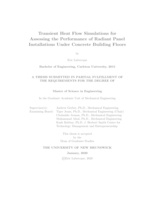 Transient heat flow simulations for assessing the performance of radiant panel installations under concrete building floors