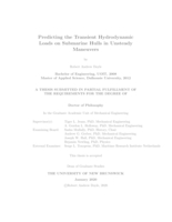 Predicting the transient hydrodynamic loads on submarine hulls in unsteady maneuvers