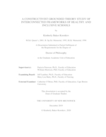 A constructivist grounded theory study of interconnected frameworks of healthy and inclusive schools