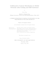 Collaborative content distribution in mobile networks with caching and D2D-assistance