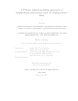 A Poisson mixed modeling approach to longitudinal multinomial data of varying cluster sizes