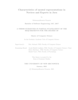 Characteristics of mental representations in novices and experts in Java