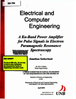 A Ku-band power amplifier for pulse signals in electron paramagnetic resonance spectroscopy