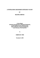 A ventilation and energy efficiency study of skating arenas