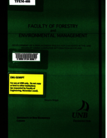 Development of a replacement policy for culverts in the UNB Woodlot using computer optimization modeling