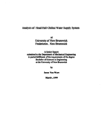 Analysis of Head Hall chilled water supply system at University of New Brunswick Fredericton, New Brunswick