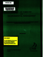 Determining the production capacity of independent logging contractors in New Brunswick