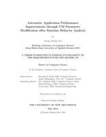Automatic application performance improvements through VM parameter modification after runtime behavior analysis