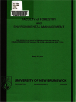 The effects of manual defoliation on growth characteristics of balsam fir over a range of site types