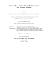 Simulator for adaptive multimedia transmission over wireless networks