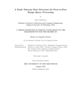 A fault tolerant data structure for Peer-to-Peer range query processing