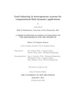 Load balancing in heterogeneous systems for computational fluid dynamics applications