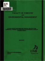 22-year growth response and financial analysis from commercial thinning treatmentson an experimental woodlot (Acadian Forest)
