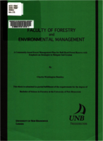A community-based forest management plan for Bull Head Forest Reserve with emphasis on strategies to mitigate soil erosion