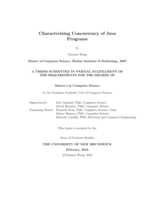 Characterizing concurrency of java programs