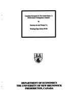 Canadian Newsprint in the United States: A Multivariate Cointegration Analysis