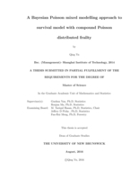 A Bayesian Poisson mixed modelling approach to survival model with compound Poisson distributed frailty
