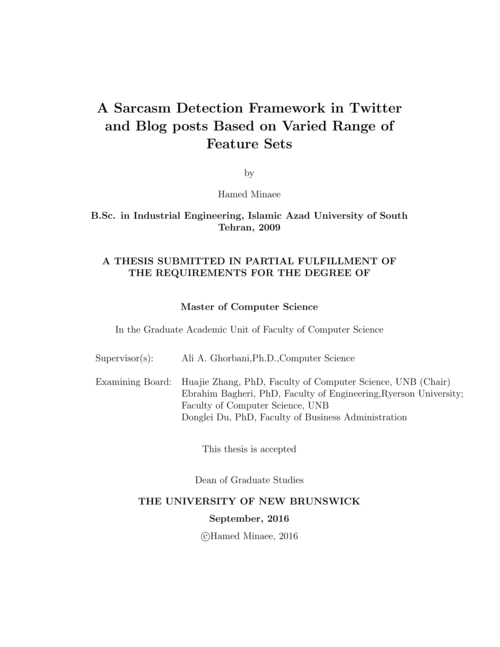 A sarcasm detection framework in Twitter and blog posts
