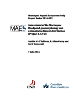 Mactaquac Aquatic Ecosystem Study Report Series 2016-029, Assessment of the Mactaquac Headpond geomorphology and estimated sediment distribution (Project 1.3.7.2)