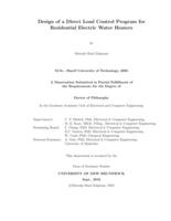 Design of a direct load control program for residential electric water heaters