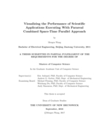 Visualizing the performance of scientific applications executing with parareal combined space-time parallel approach