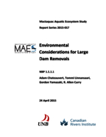 Mactaquac Aquatic Ecosystem Study Report Series 2015-017, Environmental Considerations for Large Dam Removals