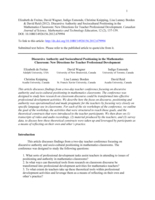 Discursive Authority and Sociocultural Positioning in the Mathematics Classroom: New Directions for Teacher Professional Development