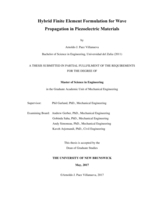 Hybrid finite element formulation for wave propagation in piezoelectric materials
