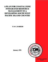 A plan for coastal zone integrated resource management in a developing south west pacific island country