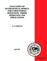 Evaluation of mathematical models for gyrocompass behaviour: