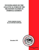 Investigation on the analytical form of the transition matrix in inertial geodesy