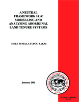 A neutral framework for modelling and analysing Aboriginal land tenure systems