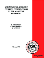 A manual for geodetic position computations in the Maritime Provinces