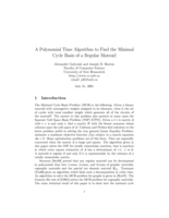A Polynomial Time Algorithm to Find the Minimal Cycle Basis of a Regular Matroid