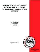 Computation of a file of geoidal heights using Molodenskij's truncation method
