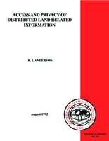Access and privacy of distributed land related information