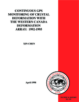 Continuous GPS monitoring of crustal deformation with the Western Canada Deformation Array