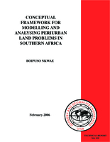 Conceptual framework modelling and analysing periurban land problems in southern Africa