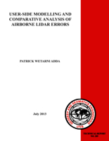 User-side modelling and comparative analysis of airborne LiDAR errors