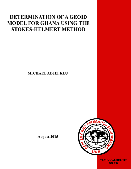 Determination of a geoid model for Ghana using the Stokes