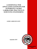 A geospatial web application (GEOWAPP) for supporting course laboratory practices in surveying engineering