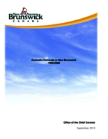Domestic homicide in New Brunswick, 1999–2008