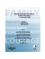 Moncton provincial court-domestic violence pilot project: a comparative study