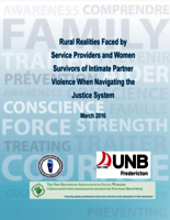 Rural realities faced by service providers and women survivors of intimate partner violence when navigating the justice system