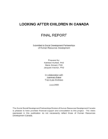 Looking after children in Canada