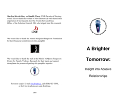 A brighter tomorrow: insight into abusive relationships