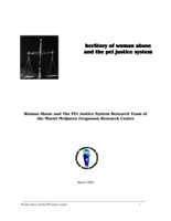 herStory of woman abuse and the PEI justice system