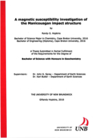 A magnetic susceptibility investigation of the Manicouagan impact structure