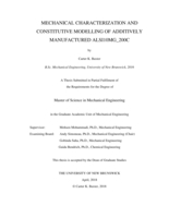 Mechanical characterization and constitutive modelling of additively manufactured ALSI10MG_200C