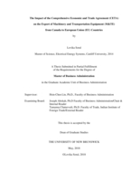 The impact of the Comprehensive Economic and Trade Agreement (CETA) on the export of Machinery and Transportation Equipment (M&TE) from Canada to European Union (EU) countries